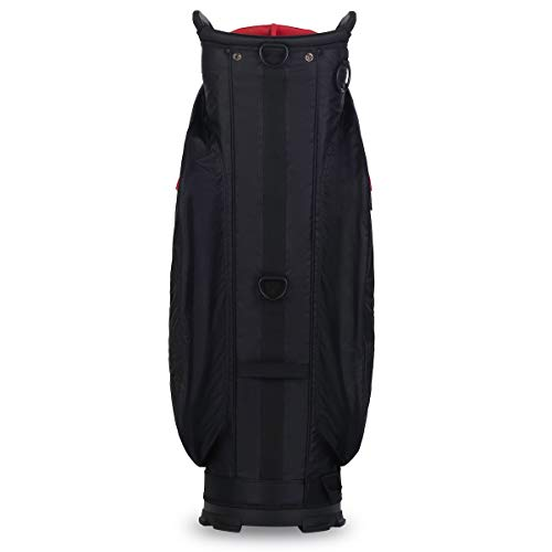 Titleist Cart 14 Lightweight Golf Bag, Black/Black/Red