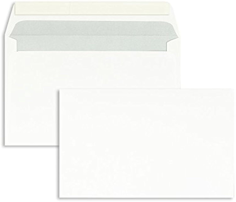 Blanke Briefhüllen, Briefumschläge, 800 Stück, Haftklebung, Ohne Fenster, Gerade Klappe, 125 x 200 mm, 100 g qm Offset, Weiß B01CGBQYVY   Feinbearbeitung