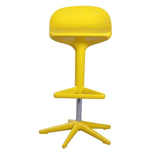 PLL Nordic Lift roterende creatieve huisbarkruk front bar café hoge kruk stoel geel