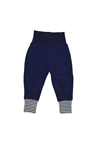 Leela Cotton Pantalon de survêtement bébé en pur coton bio bleu marine 74/80