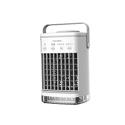RRunzfon Mini acondicionador de Aire portátil, refrigerador de Aire de Escritorio USB, Ventilador de purificador de humidificador, (sin Adaptador)