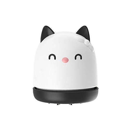 Mini Limpiador de polvo de vacío de gato portátil recargable de computadora USB para la ropa del teclado de la tabla del animal doméstico, herramienta de limpieza para el hogar del hogar,Blanco