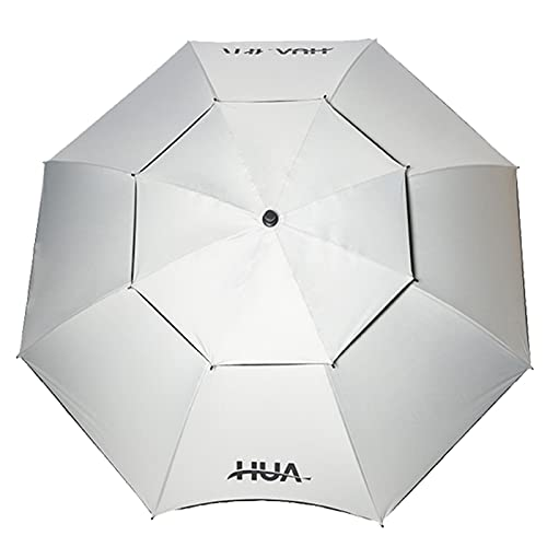 Paraguas de Pesca de Doble Capa Engrosado, Sombrilla de Patio Al Aire Libre, A Prueba de Sol Y A Prueba de Lluvia, Amarillo/Gris
