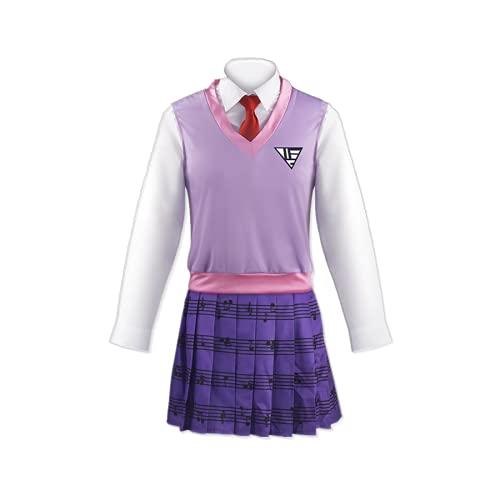 CHANGL 5 unids / set Anime Danganronpa V3 Killing Harmony Kaede Akamatsu Cosplay disfrazuniforme escolarjaponéselegante mujer JKtrajes diarios