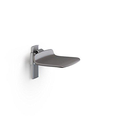 Pressalit hochklappbarer Duschstuhl in weiß oder anthrazitgrau, max. 300 kg, Farbe:Anthrazitgrau