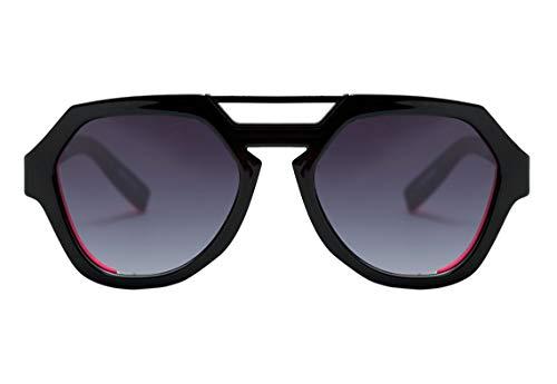 Óculos de sol Avalanche, Evoke, Adulto-Unissex, Preto Brilhante/Rosa, Único