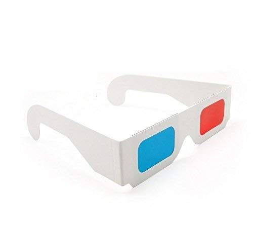DARLINGTON & Sohns 60 unidades de gafas 3D simples, gafas 3D, paquete grande, rojo, azul, cian, anaglipo, gafas 3D