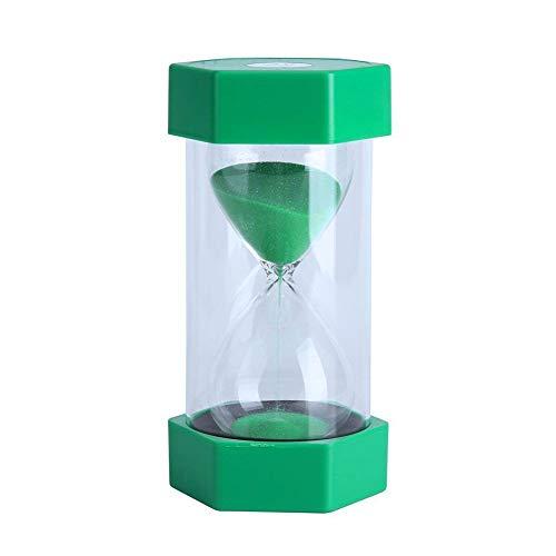 EQLEF Sablier 15 Minutes, Sabliers Minuterie Horloge de Sable Hourglass pour Enfants Jeux Cuisine Exercice Minuterie de Cuisine Sablier pour Décor de Bureau Domicile, Vert, 15 Mins