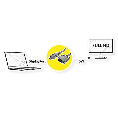 ROLINE DisplayPort Kabel DP ST - DVI ST 2m