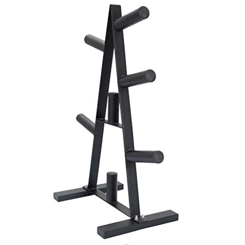 Olympic Weight Plate Rack, A Frame Weight Plate Bar Tree for 2 inch Bumper Plates Free Weight Stand Holder, Home Gym Fitness Workout, Barbell Dumbbell Storage Rack, Max Load 400lbs【UK in Stock】