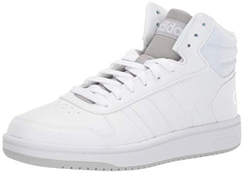 adidas Hoops 2.0 Mid, Zapatillas para Hombre, Blanco, Blanco y Gris, 40 EU