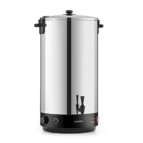Klarstein KonfiStar - Caldera de cocción, Para confituras y termo, Temperatura ajustable 30-110 °C, Programable 20-120 min, Conserva la temperatura, Acero inoxidable, Volúmen 60 Litros, Plateado
