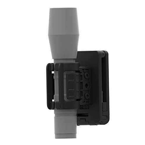 Flashlight Holster, 60 Degrees Rotatable Flashlight Holder Torch Pouch, Polymer Tactical Duty Belt Light Holder Pepper Spray Holster with Stretch Capability for 0.8'-1.2' Diameter Flashlight