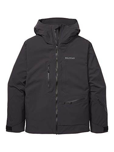 Marmot Refuge Jacket Giacca da Neve Rigida, Abbigliamento per Sci E Snowboard, Antivento, Impermeabile, Traspirante, Uomo, Black, XL