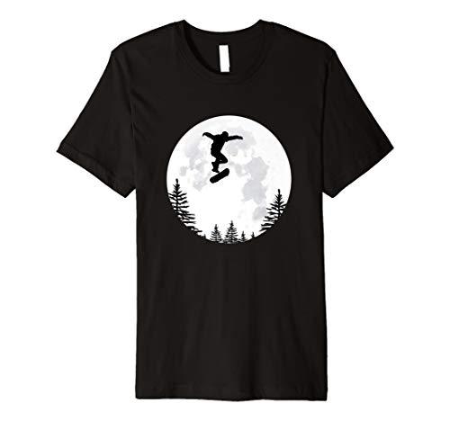 Flying Skateboard Over The Moon Shirt für Jungen und Herren