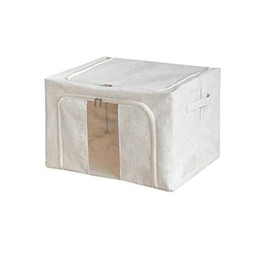 Dabeigouzzhiwl almacenaje, 1 unids Ropa de almacenamiento Bolsa Organizador con ventanas grandes y manijas de transporte, Armario de dormitorio para ropa de cama, ropa de cama, ropa (blanco) Tamaño: S