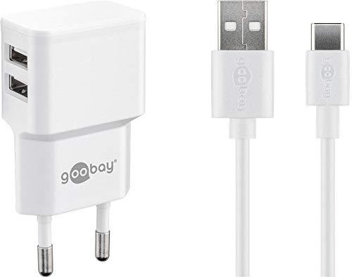 Preisvergleich Produktbild goobay USB-C Dual Ladeset 2, 4 A Ladegerät,  weiß