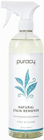 Puracy Natural Laundry Stain Remover, Enzyme-Based Spot Cleaner, Free & Clear, 25 Ounce (Pack of 1)