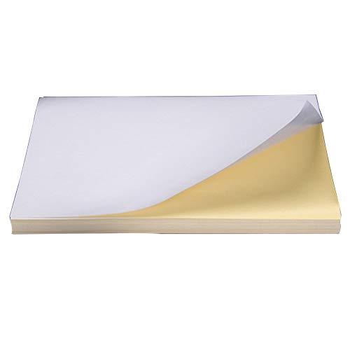 100 stks van A4 Wit Papier Art Copier Laser Inkjet Printer Wit Zelfklevend Papier Sheet Matte Oppervlak Label Sticker