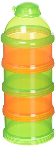 Mommys Helper Pak N Stak Formula Dispenser, Orange/Green