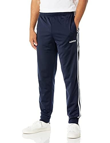 adidas Men's 57368 Essentials 3-stripes Tricot Track Pants, Legend Ink/White, Large