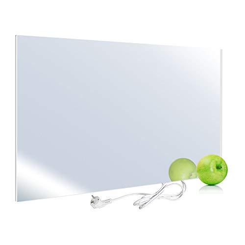 Viesta H450-SP Infrarotheizung 450 W, Spiegel - Heizpaneel mit höchstem Wirkungsgrad Dank Carbon Crystal Technologie - Flache Glasheizung aus Sicherheitsglas - Elektroheizung mit Überhitzungsschutz