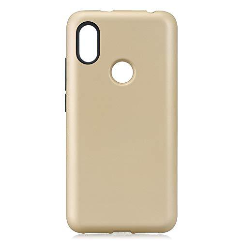 Yobby Hülle für Xiaomi Redmi S2,Ultra Slim Elegant 3 in 1 Stoßfest Robust Handyhülle mit Hybrid Hart PC + Weich Silikon Bumper Kratzfest Komplett Schutzhülle-Gold