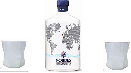 Nordes Atlantic Galician Gin, 70 cl mit 2 dekorativen Gläsern