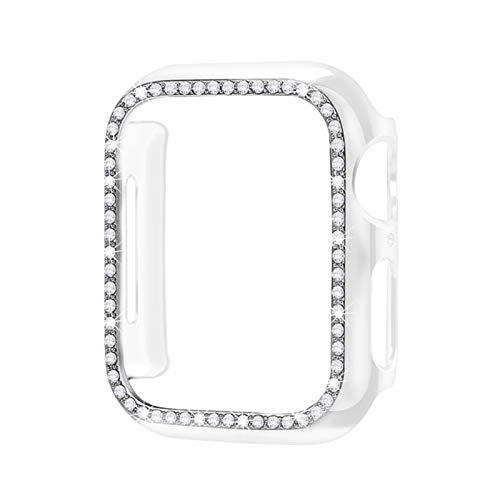 PGGFA Estuche Protector de Parachoques de Diamante para la Cubierta de la Cubierta de la Cubierta de Apple 5 4 3 2 1 38mm 42mm Casos para iWatch 5 4 40mm 44mm Watch Accesorios