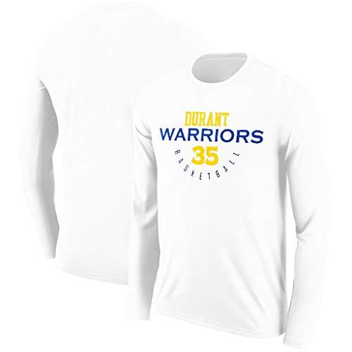 YUNMO Equipo de diversión Warriors Curry Durant White Nuevo suéter de Manga Larga Apariencia de Baloncesto NBA Otoño Transpirable Camiseta de Calentamiento de Secado rápido (Color : A, Size : XXL)
