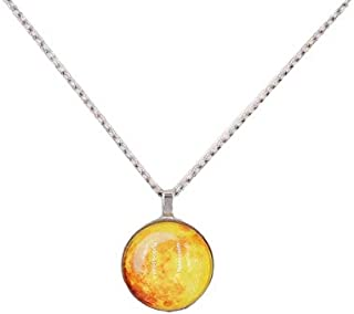 2018 Hot Moon Glowing Necklace, Gem Charm Jewelry,Silver Plated,Halloween Gifts , 2724651198159