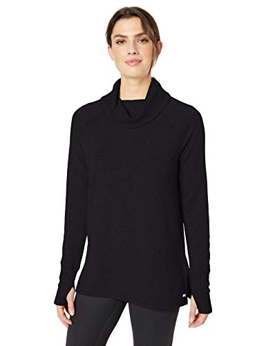 Amazon Essentials Women's Studio Langarm-Tunika mit Trichterausschnitt für Damen, Graphite, US M (EU M - L)
