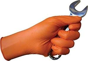 Nitrile Gloves - Textured - Non Textured - Disposable - Powder & Latex Free - 6 to 7 MIL - Case of 1000 - 10 Boxes (Small, Orange 6mil)