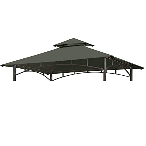 CoastShade 8 x 5 Grill BBQ Gazebo Double Tiered Replacement Canopy Roof...