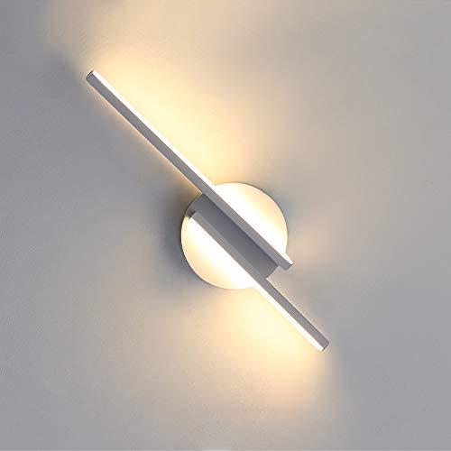 DAXGD Lampade da Parete a LED, 16W Moderne Applique da Parete per Soggiorno, Camera da Letto, Applique, Lampada da Comodino per Interni, 3000K (Luce Bianca Calda)
