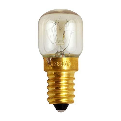 Mobestech Mikrowelle Birne kleine Schraube Glühbirne 300 Grad Messing Lampe Lampe Hochtemperaturbeständigkeit E14 15W