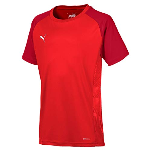 PUMA Cup Sideline Tee Core Jr T-Shirt, Red-Chili Pepper, 140