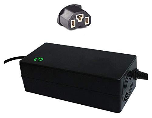 Adaptador de Cargador de batería de 42V Black Scooter Cargador Reemplazo del Adaptador de Cargador de Scooter eléctrico con Cable de alimentación para Scooter eléctrico (Color : 3a)