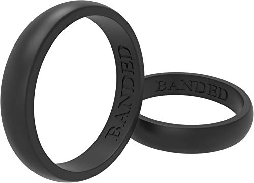 Thickness Men 2.0mm ThunderFit Silicone Wedding Ring for Men /& Women Women 1.5mm Women 5.5mm Rubber Engagement Band Width Men 8.0mm