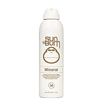 Sun Bum Mineral SPF 30 Sunscreen Spray | Vegan and Reef Friendly  Octinoxate & Oxybenzone Free  Broad Spectrum Natural Sunscreen with UVA/UVB Protection | 6 oz