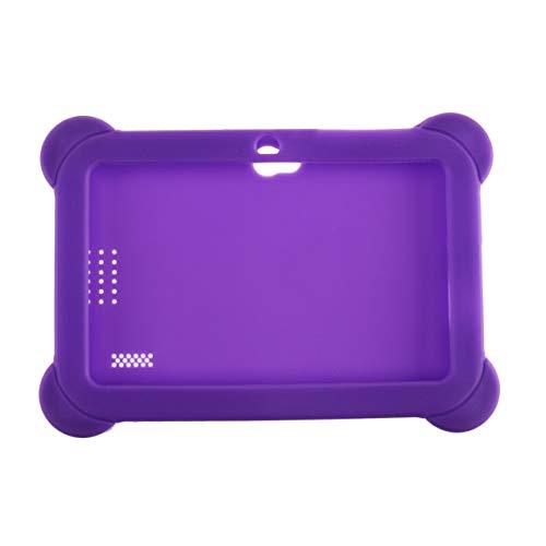 Cubierta Antideslizante de Silicona Suave Ultraligera Cubierta Protectora de Color sólido Funda Adecuada para tabletas Android Q88 de 7 Pulgadas