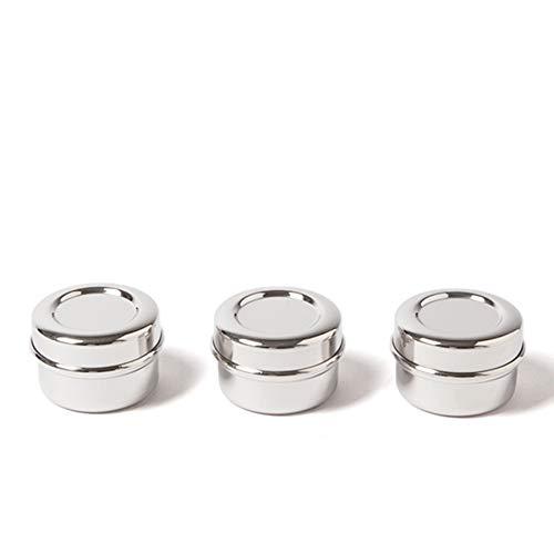 ECO Brotbox | Chutney Boxen | Set aus 3 Snackdosen aus Edelstahl | je 60 ml