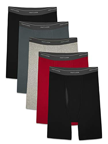 Fruit of the Loom Men's CoolZone Boxer Briefs, long Leg - Assorted Colors, XX-Large