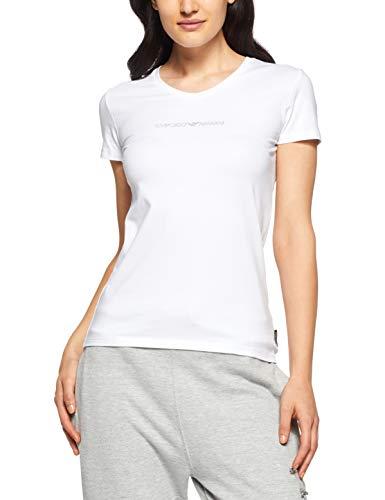 Emporio Armani Underwear Damen V-Neck T-Shirt 163321CC317, Weiß (Bianco 00010), Small