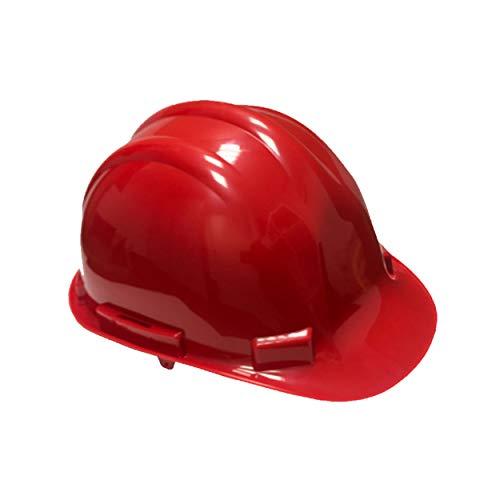 Bauarbeiterhelm hochwertiger ABS Schale in rot| Schutzhelm mit Schweißband| Industrie Arbeitsschutzhelm| Forstschutzhelm| Universalgröße| Vierpunkt Nylon Innenleben| EN397