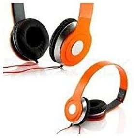 SoundStrike 3.5mm Foldable Headphone Headset for Dj Headphone Mp3 Mp4 Pc Tablet sandisc Music Video and All Other Music Players (Orange)
