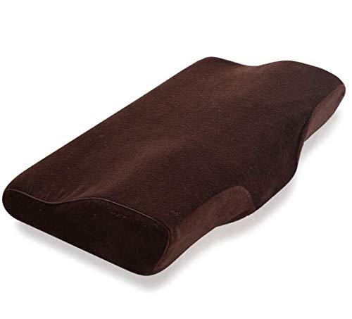 Almohada para Cuello ortopédico Cervical marrón Almohada de Espuma de Memoria de una Pieza Mariposa Rebote Lento Almohadas para Descanso de Salud para Adultos Almohada para Cuello 30 * 50 cm