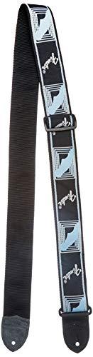 Fender 990681502 - Correa guitarra Monogram, Negro/Gris/Azul