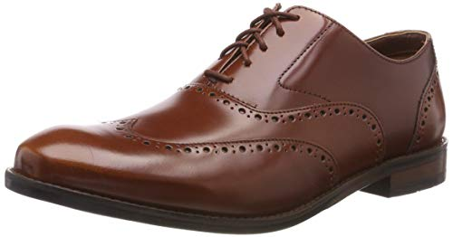 Clarks Edward Walk, Scarpe Stringate Derby Uomo, Marrone (British Tan Leather-), 41.5 EU