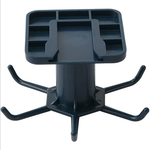 Ganchos giratorios con 6 ganchos montados en la pared, ganchos para utensilios de cocina, ganchos resistentes al óxido, resistentes al agua, gancho giratorio de 360 grados para cocina, baño